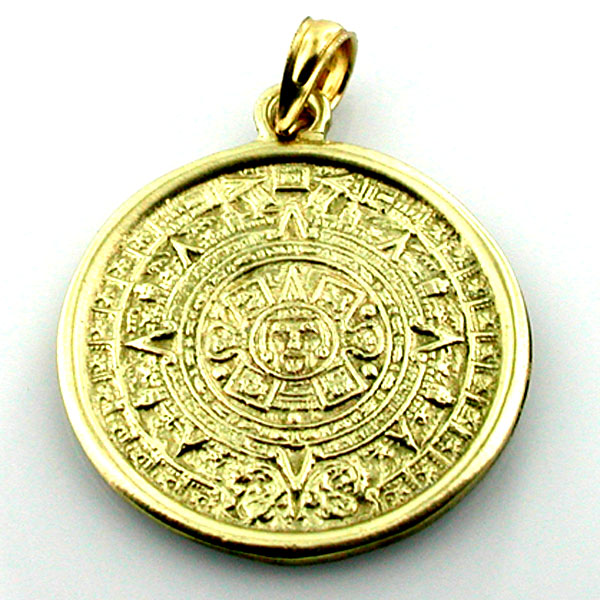 Welcome to splendid charms 14k gold aztec mayan maya calendar charm pendant aloadofball Image collections